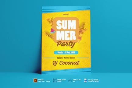 Flyer für Sommerfest Vol. 01