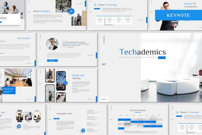 Thumbnail for Techademics - Education Keynote Template