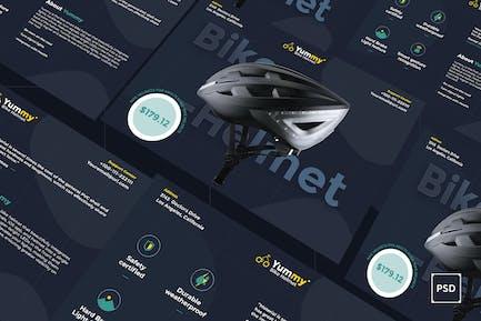 Bike Helmet A5 Flyer PSD Template