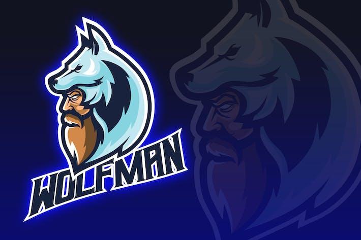 Thumbnail for Wolf Mann Esport Logo