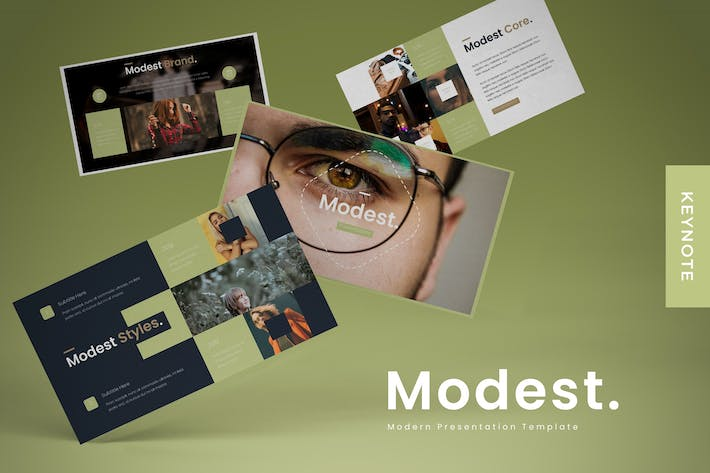 Thumbnail for Modest - Keynote Template