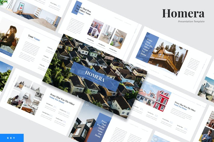 Thumbnail for Homera - Real Estate Keynote Presentation Template