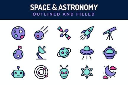 Icons für Raum und Astronomie