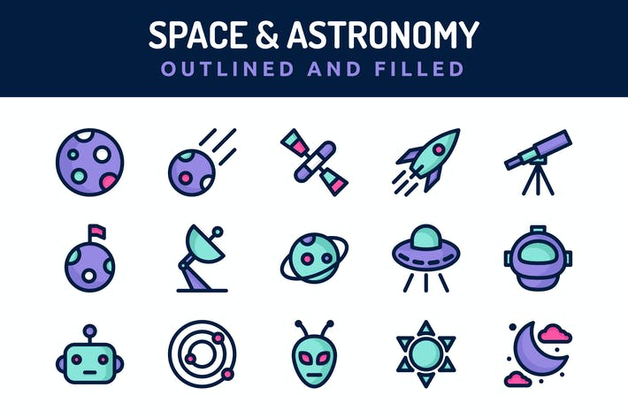 Thumbnail for Space and Astronomy Icons