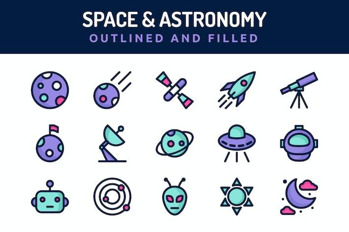 Thumbnail for Icons für Raum und Astronomie
