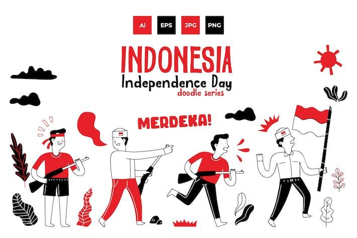 Thumbnail for Индонезия независимость каракули серии 1