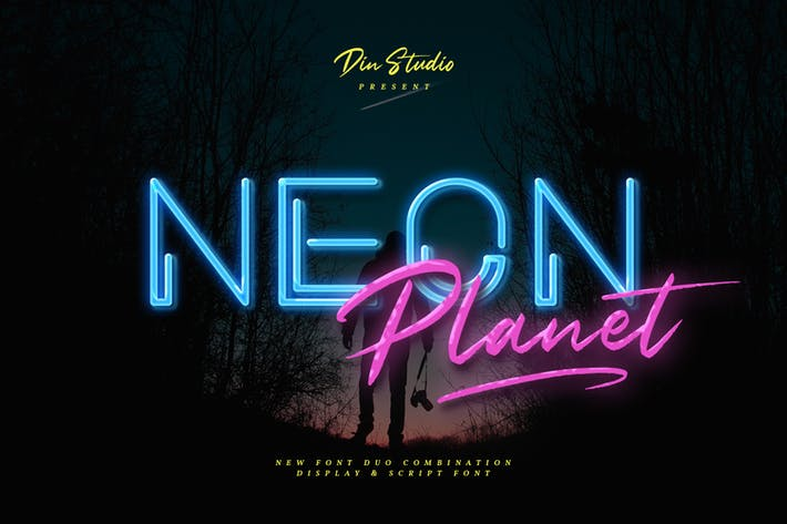 Thumbnail for Neon Planet - Display Font Duo