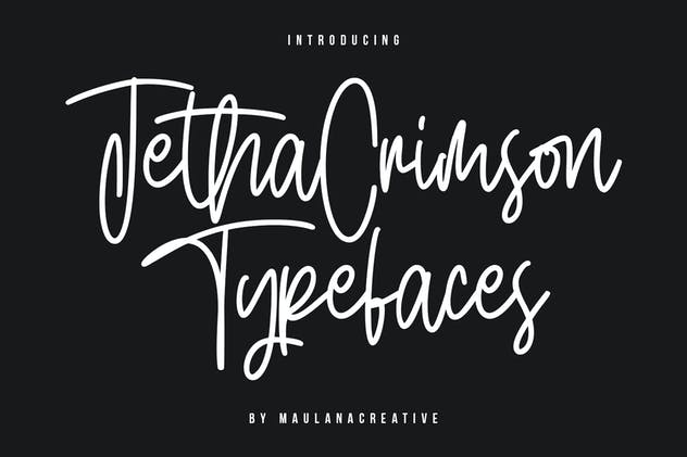 Jetha Crimson Signature Brush Font Typeface - product preview 8