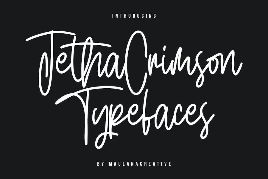 Jetha Crimson Signature Brush Font Typeface