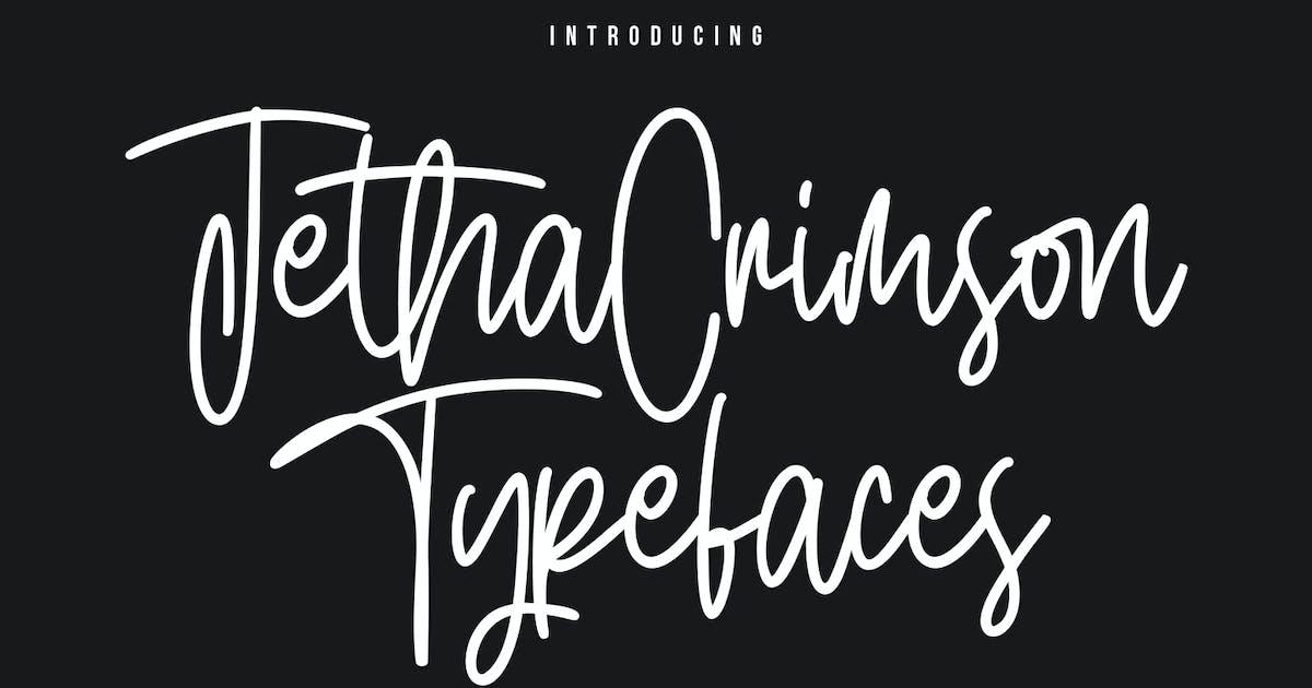 Download Jetha Crimson Signature Brush Font Typeface by maulanacreative