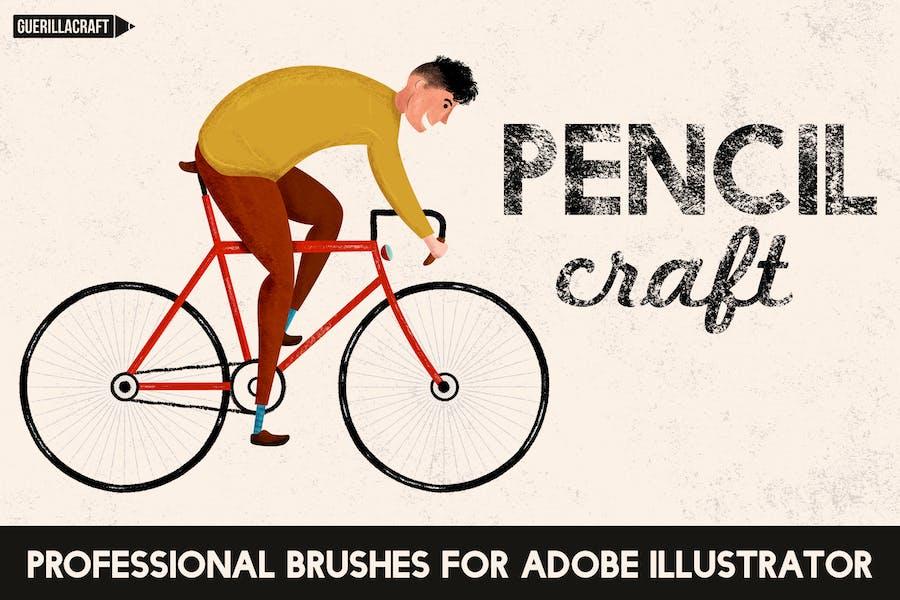 Pencilcraft Brushes for Adobe Illustrator