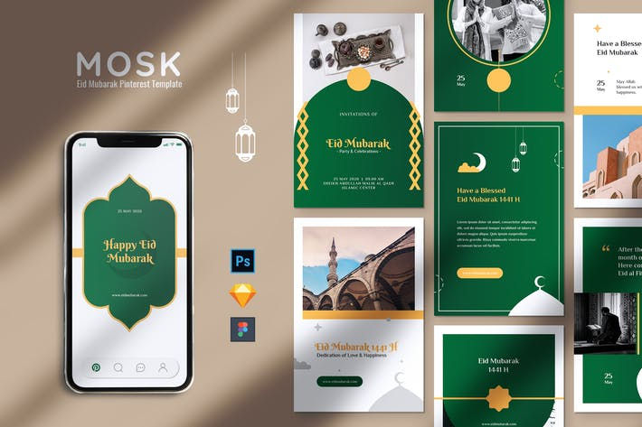 Thumbnail for MOSK Eid Mubarak Pinterest Template