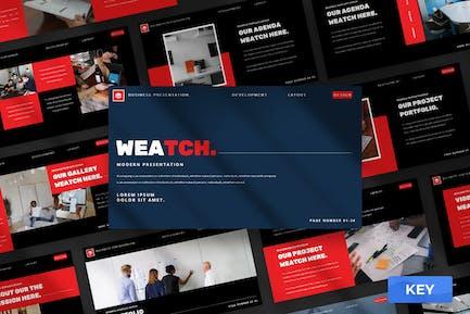 Weatch - Keynote Präsentationsvorlage