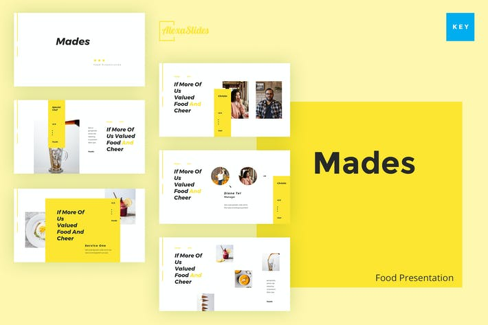Thumbnail for Mades - Шаблон Keynote еды