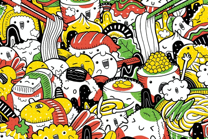 Thumbnail for Japanese Food with Cute Character