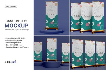 Mockup Roll Stand Banner