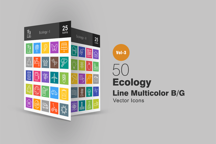 Thumbnail for 50 Ecology Line Multicolor Icons