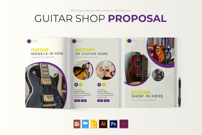 Thumbnail for Guitar Shop | Brochure Template