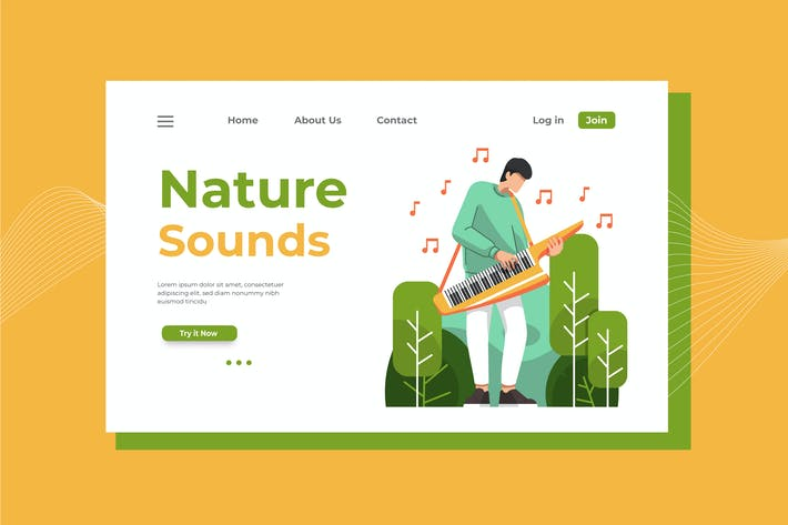 Thumbnail for Nature Sounds Landing Page Illustration
