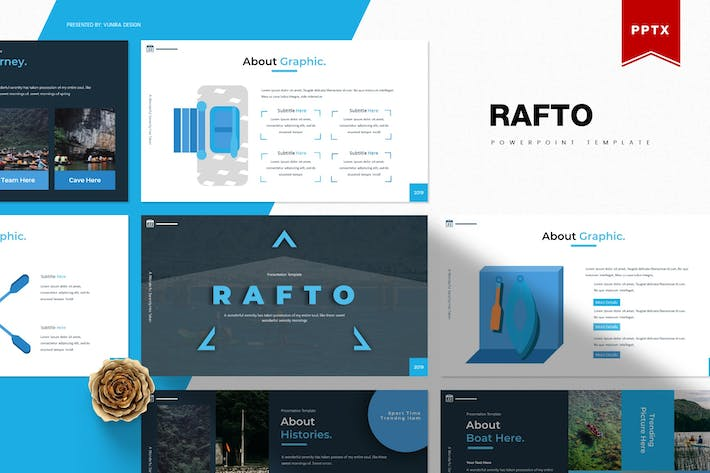 Thumbnail for Rafto | Powerpoint Template