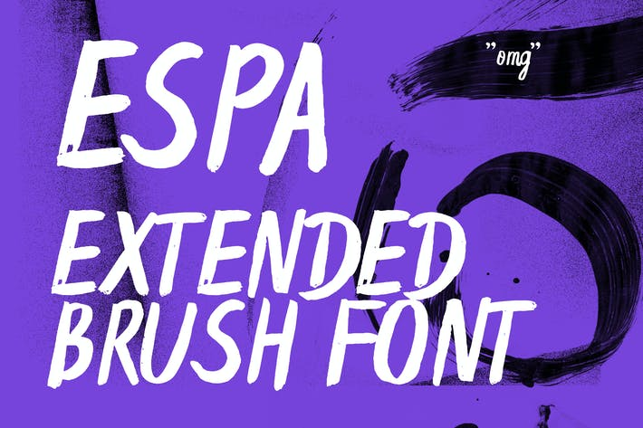 Thumbnail for Espa Extended Handwritten Brush Font