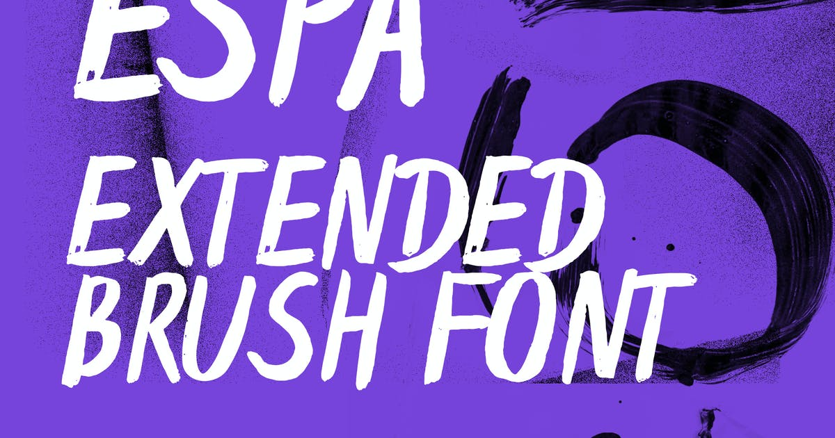 Download Espa Extended Handwritten Brush Font by WildOnes