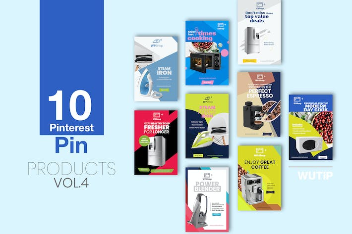 Thumbnail for 10 Pinterest Pin Banner-Products Vol 04