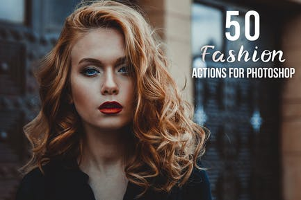 50 Acciones de Photoshop de Moda
