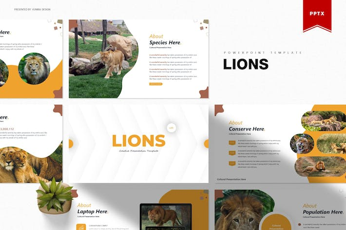 Thumbnail for Lions | Powerpoint Template