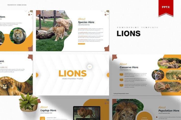 Львы | Шаблон Powerpoint