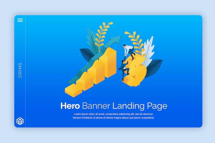 Thumbnail for Drims - Hero Banner Template