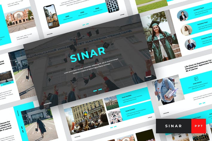 Thumbnail for Sinar - University PowerPoint Template