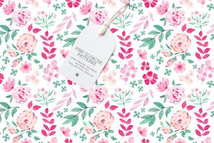Pink Gouache Patterns Set
