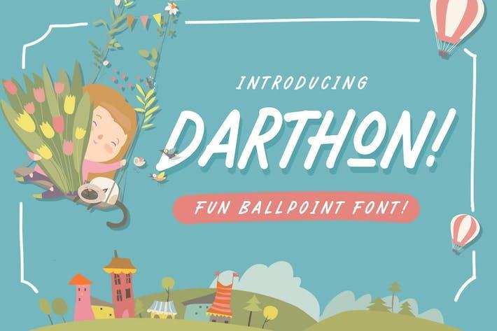 Thumbnail for Darthon! - Fun Ballpoint Typeface