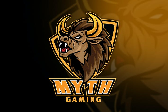 Thumbnail for Bison Myth Esport Logo Template