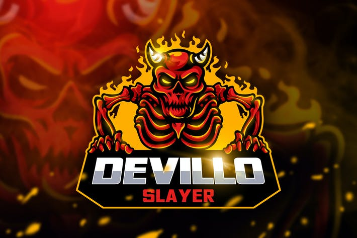 Thumbnail for Devillo Slayer - Mascot & Esport Logo