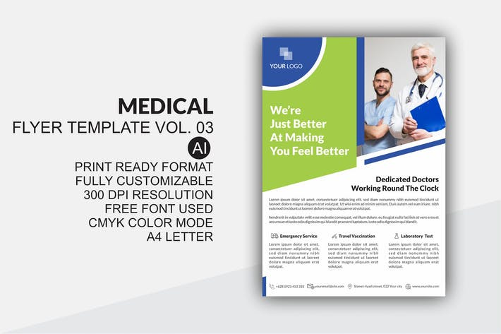 Thumbnail for Medical Flyer Template Vol. 03