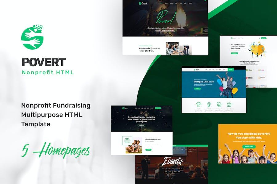Povert - Nonprofit Fundraising Multipurpose HTML