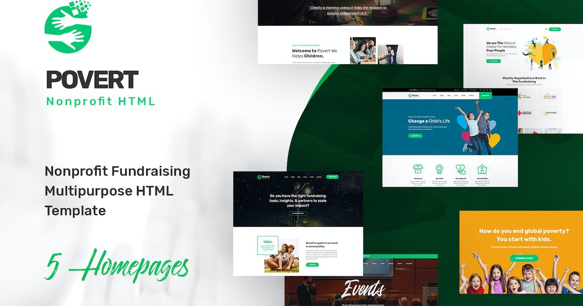 Download Povert - Nonprofit Fundraising Multipurpose HTML by websroad
