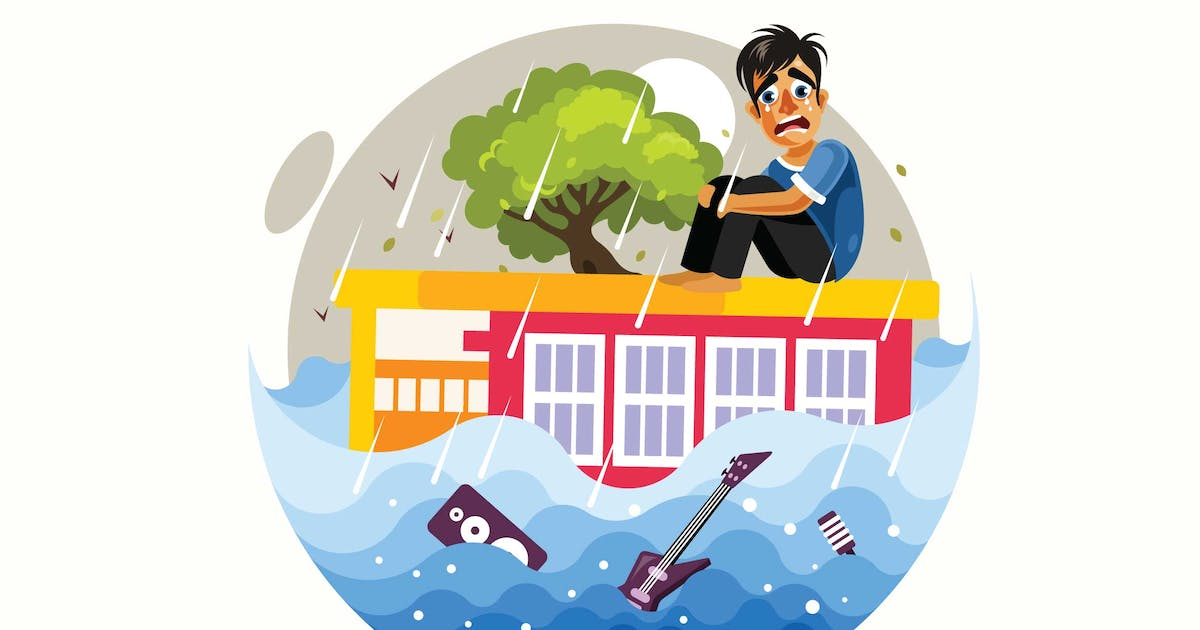 Download Floods Disaster Vector Illustration by IanMikraz