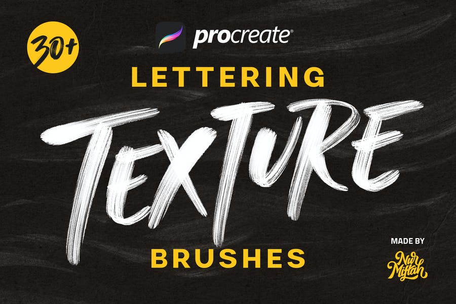 Procreate Lettering Texture Brushes