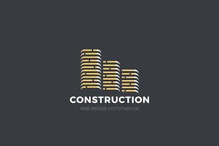 Logo Real Estate Skyscrapers Buildings