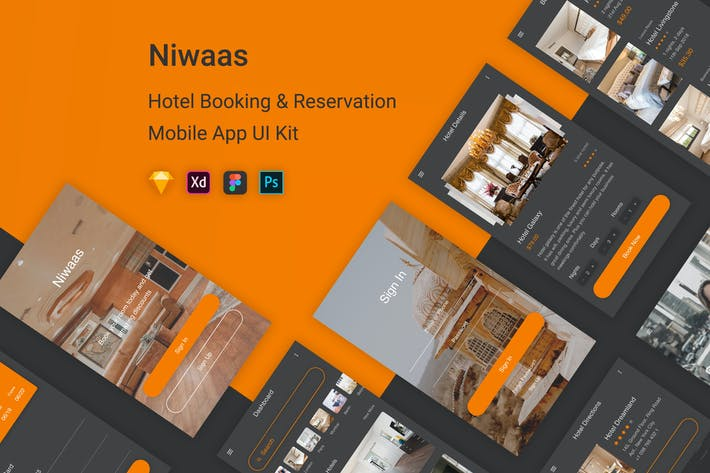 Thumbnail for Niwaas - Hotel Booking & Reservation UI Kit