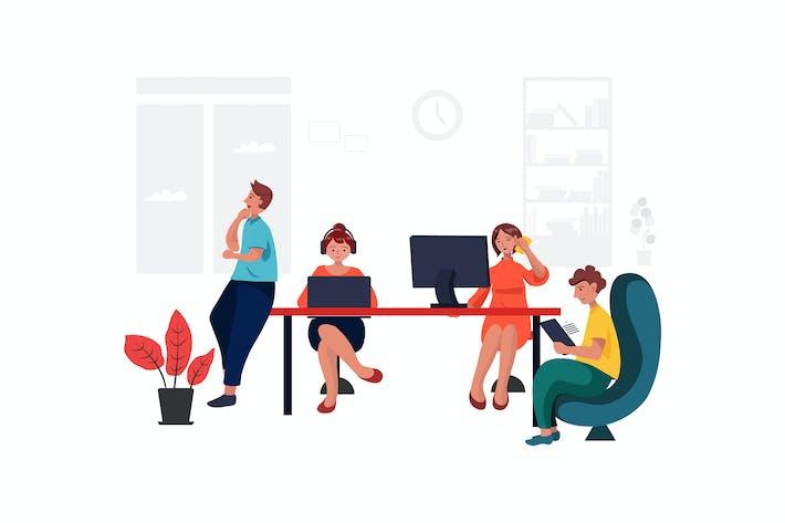 Thumbnail for Gruppe von Geschäftsleuten, die in einem Raum arbeiten