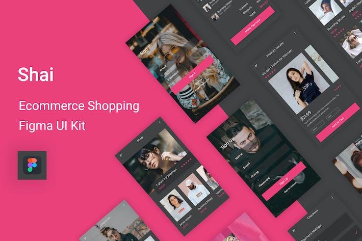 Thumbnail for Shai - Ecommerce Shopping UI Kit for Figma