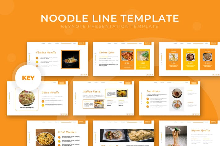 Thumbnail for Noodle Line - Keynote Template