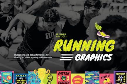 Lauf- und SportGrafiken