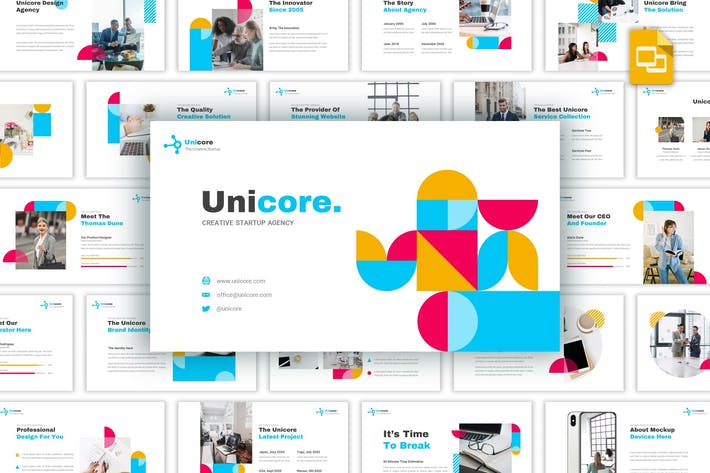 Thumbnail for Unicore - Creative Startup Google Slides Template