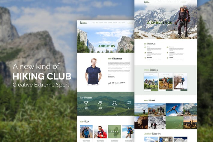 Thumbnail for Hiking Club - Sports Activity and Agency Template