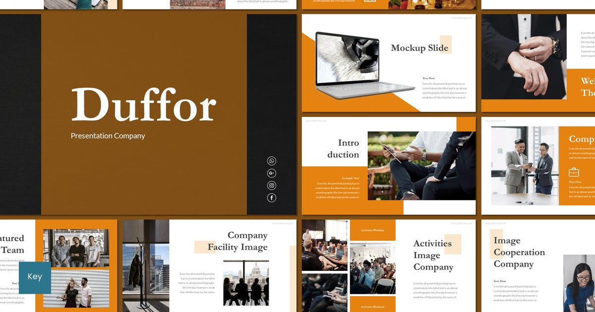 Download Duffor - Keynote Template by inspirasign